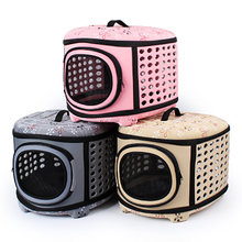 Fashion Pet Portable Handbag Collapsible Outdoor Dog Cage EVA Mini Hamster Bag Cat Outing Backpack Support Wholesale and Retail(China)
