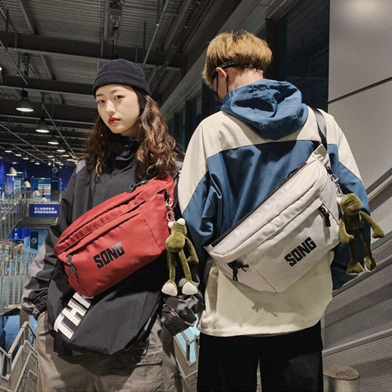 Large Capacity Waist Bag Unisex Fanny Pack Streetwear Chest Bag Hip Hop Banana Bags High Quality Outdoor Big Belt Waist Packs