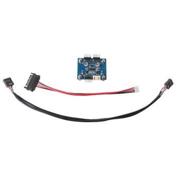 Conector USB de 9 pines de 1 a 2 tarjetas de 180 grados adaptador de HUB USB con Cable de alimentación W91A