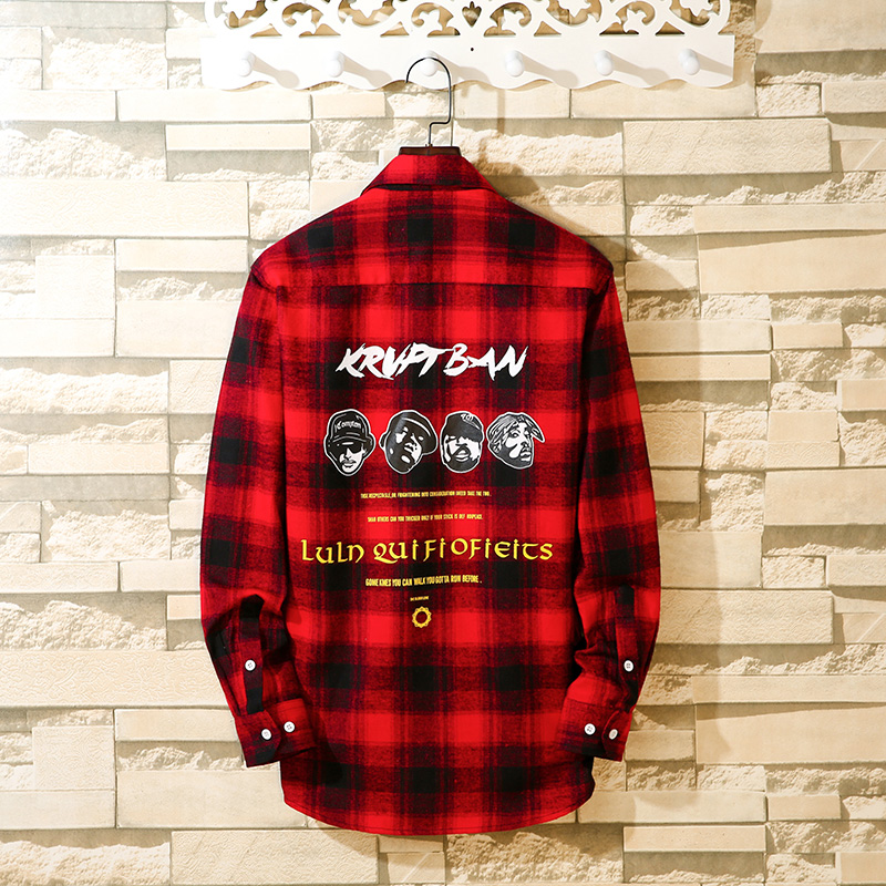 Aoliwen 2019 Men Casual Printed Plaid Shirt New Fashion Long Sleeve Spring Autumn Men Clothes Flannel Dress Shirt Slim Fit 5XL