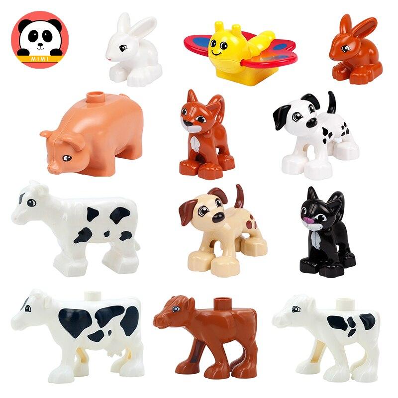 Аксессуары для животных: Кот, собака, крупный рогатого скота, кролик, строительные блоки большого размера, совместимые игрушки, кирпичи, игр...