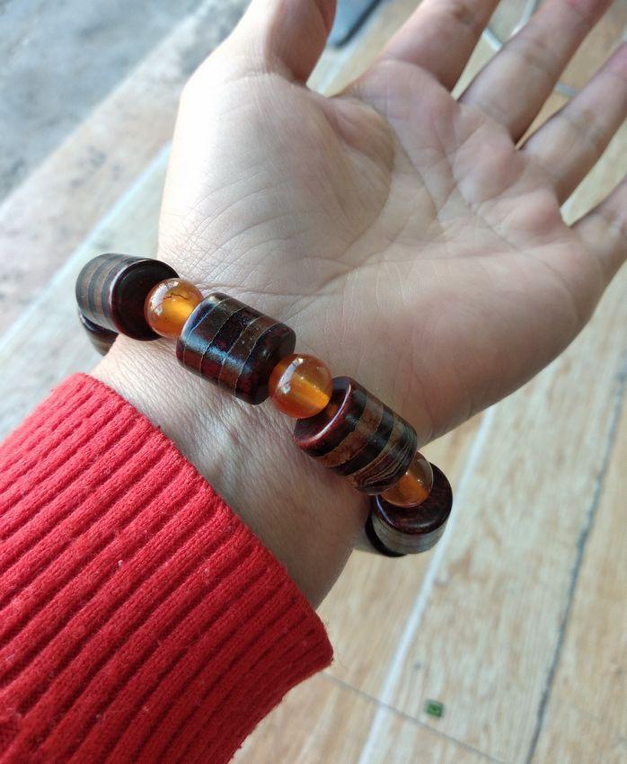 Винтажные тибетские бусины дзи браслет нить бисера браслет агат мала Амулет из бисера