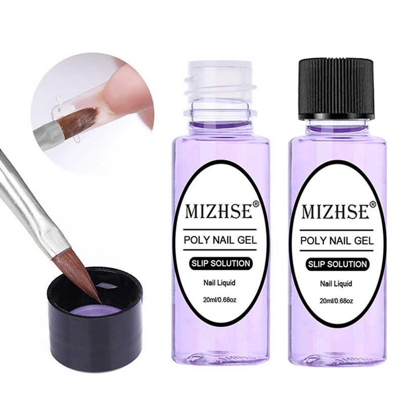 Mizhse 1 Fles 20 Ml Poly Polish Gel Vloeibare Anti Oplossing Quick Builder Gel Nagels Permanente Helder Acryl Nail Art extension Gel
