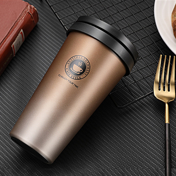 Coffee Cup Thermos Flask Double Wall Vacuum Insulated Travel Mug Stainless Steel Vacuum Mug,   coffee mug with lid and handle creative stainless steel simulation slr camera lens thermos mug cup w cup lid black 420ml