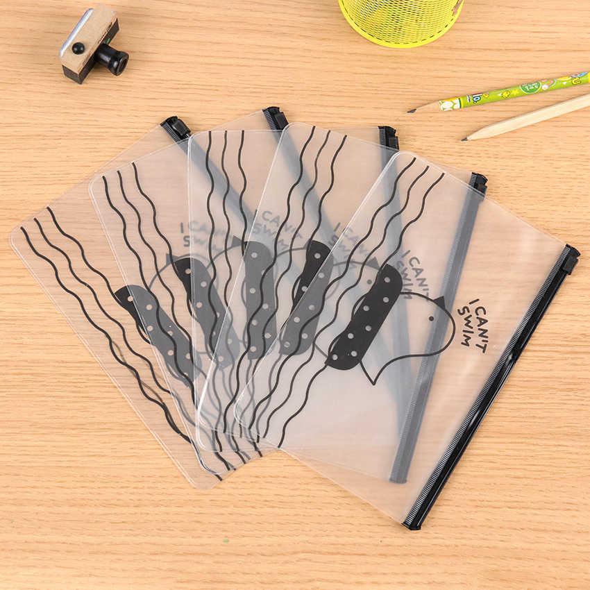 1PC Kawaii קלמר חומוס שקוף מתנת בית ספר עיפרון תיבת Pencilcase עיפרון בית הספר מכתבים