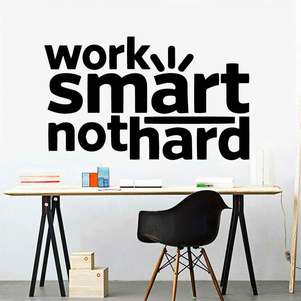 Office Quotes Wall Decal Vinyl Work Smart Not Hard Office Wall Decor Decal Wall Stickers Removable Enterprise Decoration Z619 Wall Stickers Aliexpress