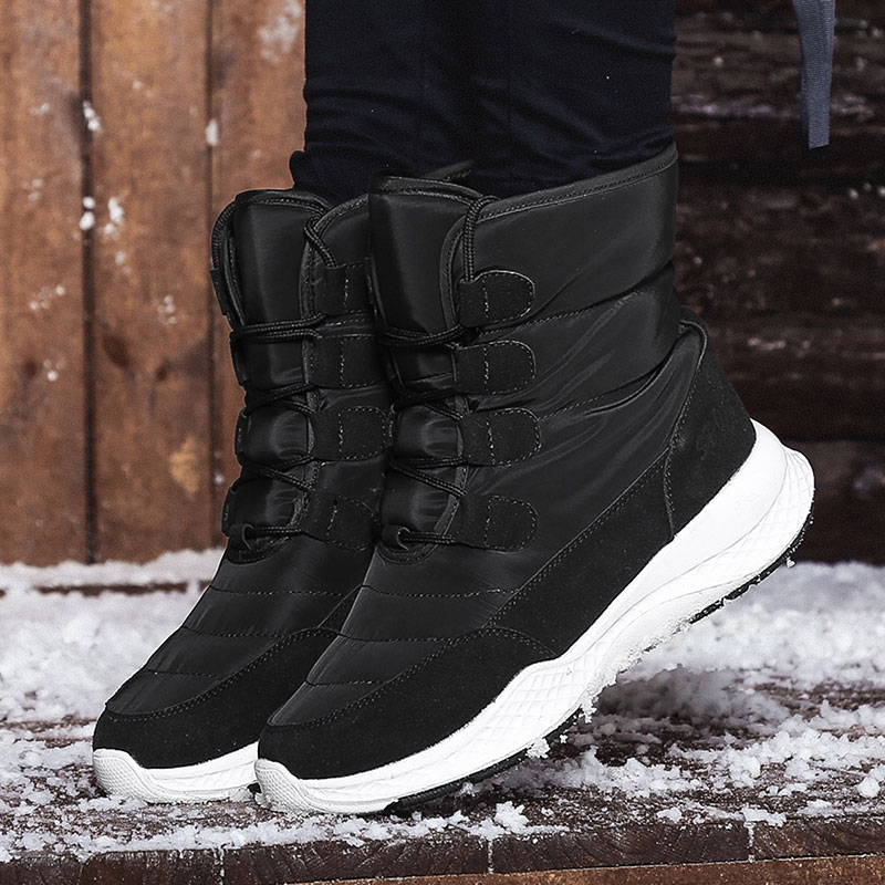 Jzzddown Winter Snow Boots Shoes Woman Waterproof Fur Boots Ladies Snow Boots For Women Ankle Boots Warm Plush Shoes Footwear 36