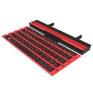 Image 3 - R4 taşınabilir katlanabilir kablosuz Bluetooth klavye iOS ANdroid Windows aygıtı kırmızı, mavi, siyah (isteğe bağlı)