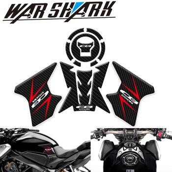 Nuevos accesorios para motocicleta, conjuntos de adhesivos de fibra 3D, conjunto de almohadillas protectoras para tanque HONDA CB650R CB 650R 2019