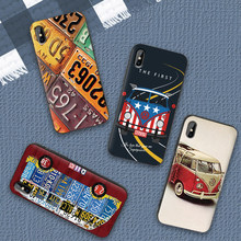 Case Voor iPhone 6 6S plus Case Luxe Zwart Case Voor iPhone 5 5S SE 7 8 Plus X XS Max XR Cover Retro marvel superheld vw(China)