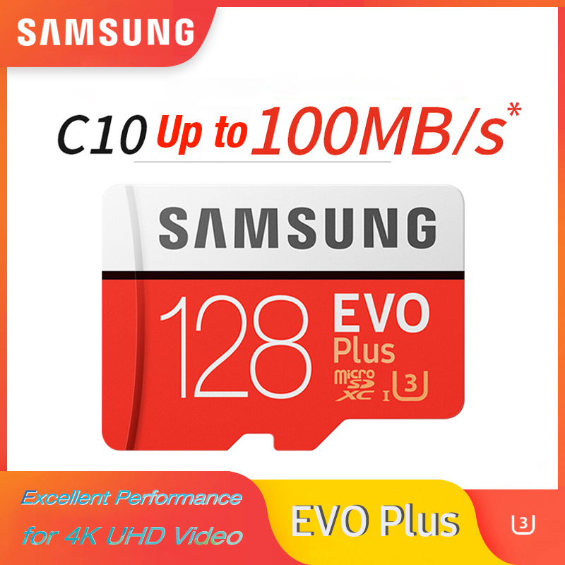 SAMSUNG EVO Plus 32GB 64G U1 memory card  128Gb 256Gb 516Gb micro sd U3 Class10  MicroSD  for Smartphone TabletPC 100percent Original