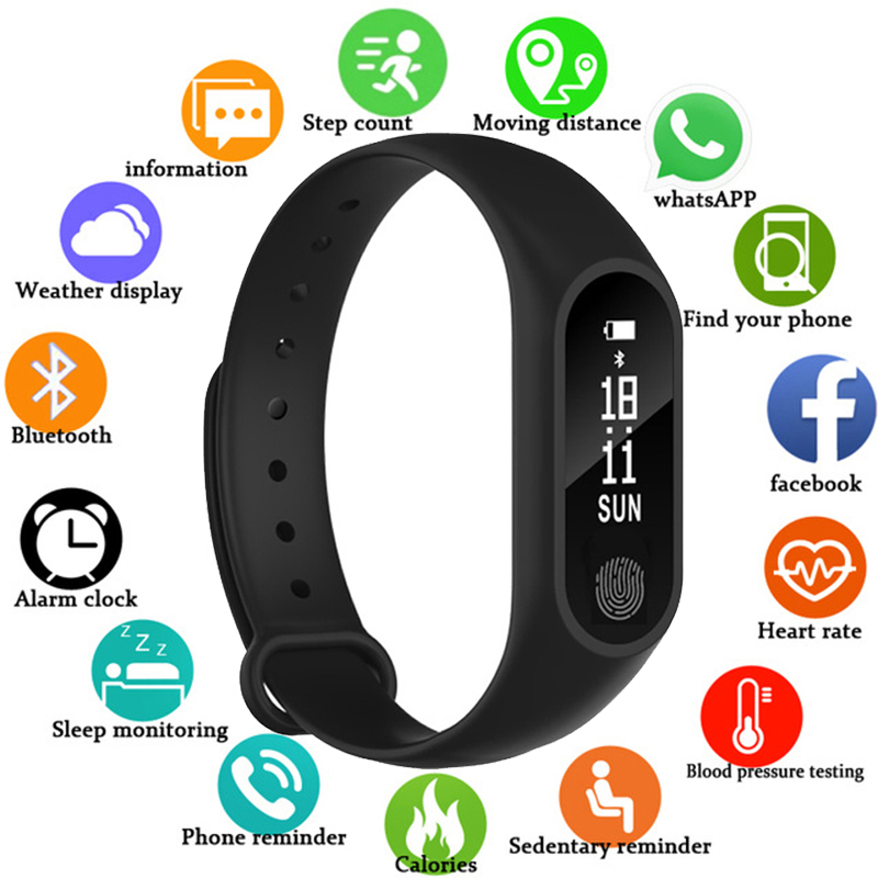 Sports Watch For Men Women Heart Rate Blood Pressure Function Watches Oled Display Bluetooth Connect The Phone Data Transmission