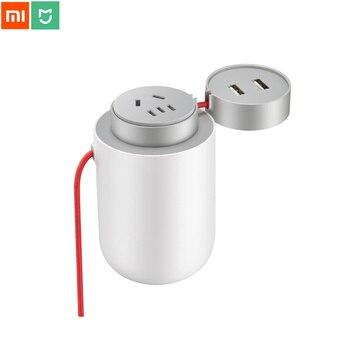 Xiaomi Mijia 100W przenośny samochodowa przetwornica napięcia konwerter DC 12V do AC 220V z 5 V/2.4A podwójny porty USB ładowarka samochodowa dla kierowcy