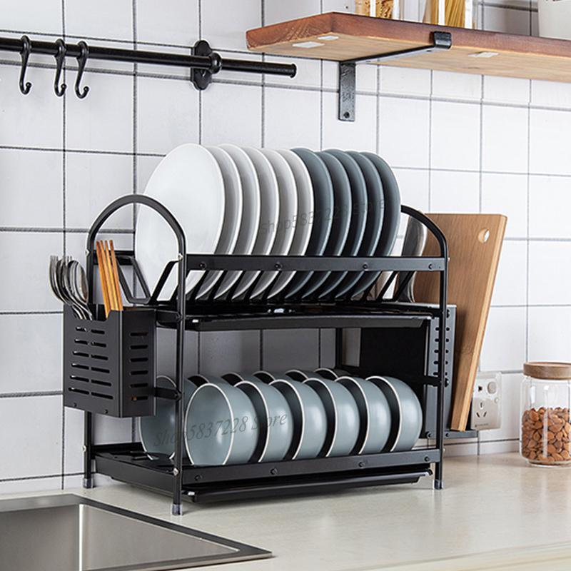Космическая алюминиевая стойка для чашек, полка для слива, кухонные принадлежности для шкафа, для хранения в кухне