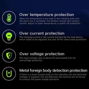 Image 3 - Qi voiture chargeur sans fil pour IPhone 11 Pro X XR XS Max Galaxy S10 S9 intelligent automatique serrage rapide charge prise dair support pour téléphone