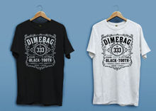 New Dimebag Darrell Whiskey Logo White Black Mens T-shirt Shirt XS - 2XL Printing