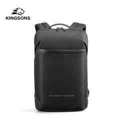Kingsons Neue Männer Ultra-schlanke Rucksack Für 15.6 Laptop Anti-diebstahl Wasserdicht Mode Rucksäcke Hohe-qualität business taschen Mochila
