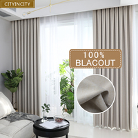 CITYINCITY solide 100% blackout Vorhang Für wohnzimmer Wohnkultur dicken Faux leinen Vorhänge für Schlafzimmer bereit maß maß-in Vorhänge aus Heim und Garten bei