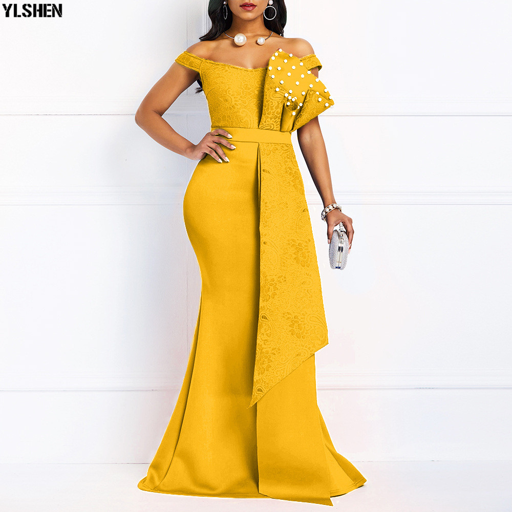 Mermaid Evening Party Dress African Dresses For Women Fashion Long Maxi Africa Dress African Clothes Robe Africaine Femme 2019