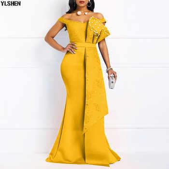 Sirène soirée Robe de soirée robes africaines pour les femmes mode longue Maxi afrique Robe Africaine vêtements Robe Africaine Femme 2019