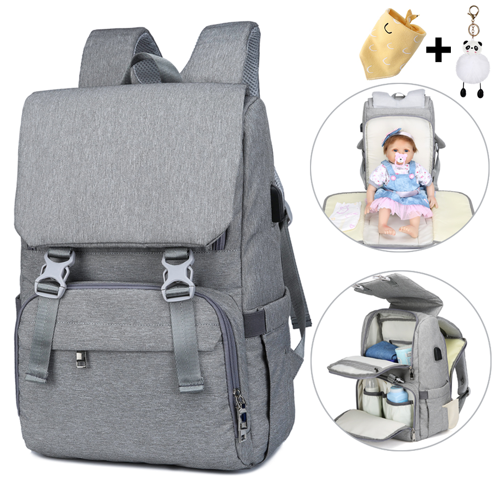 Waterproof Wet Usb Mummy Daddy Baby Diaper Bag Backpack Organizer Newborn Mother Maternity Baby Bag Bags For Mom Mommy Stroller