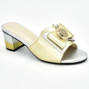 Image 3 - جديد فوشيا اللون أحذية الزفاف للنساء رائجة البيع النمط الإيطالي أحذية خفيفة المرأة الأفريقية النعال صنادل سيدات بكعب