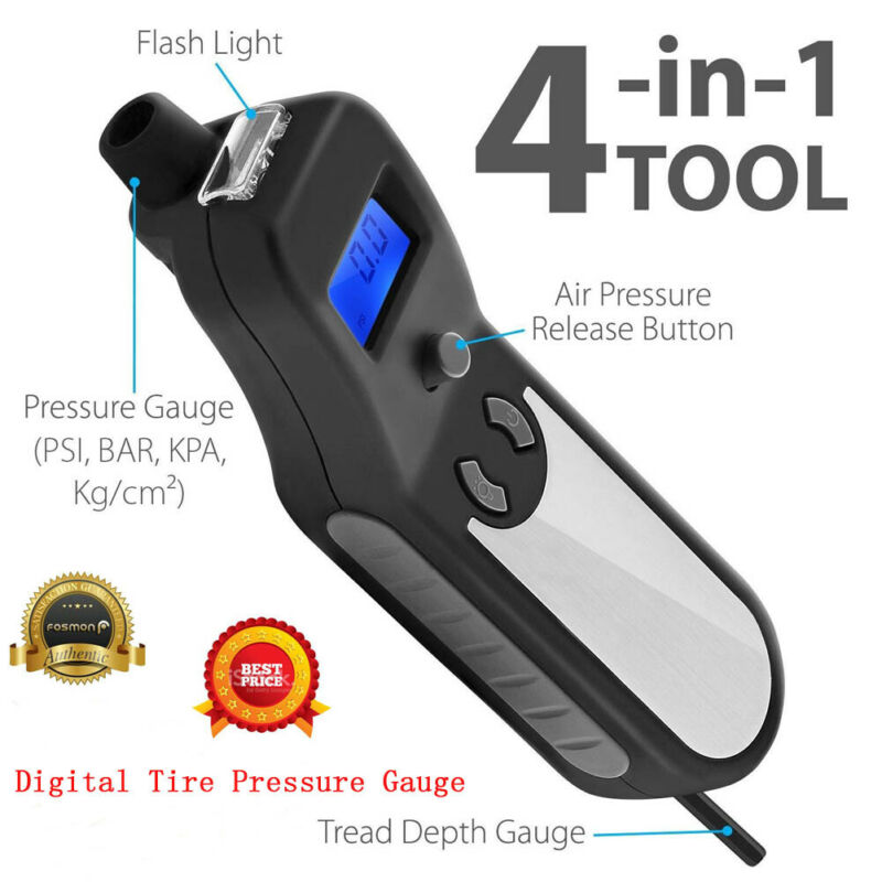Digital Tire Pressure Gauge Car Bike Meter Flashlight Air Release Inflator AU