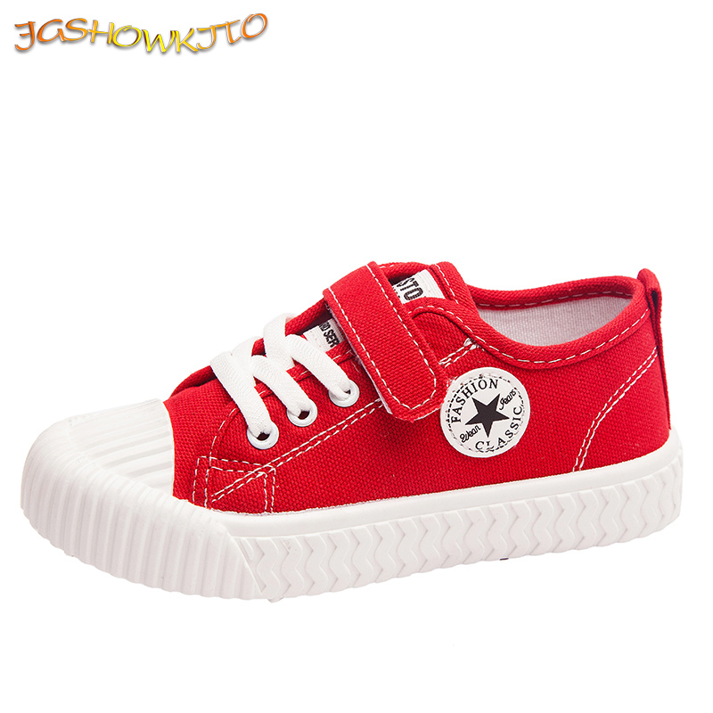 JGSHOWKITO Fashion Brand New Unisex Kids Shoes For Boys Girls Children Casual Sneakers Candy Color Sneakers Classic Running Flat