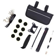 Buy HobbyLaneBicycle Tool Bag Multi-function Folding Tire Repair Kits Multifunctional Kit Set with Pouch Pump for Bike Bicycle directly from merchant!