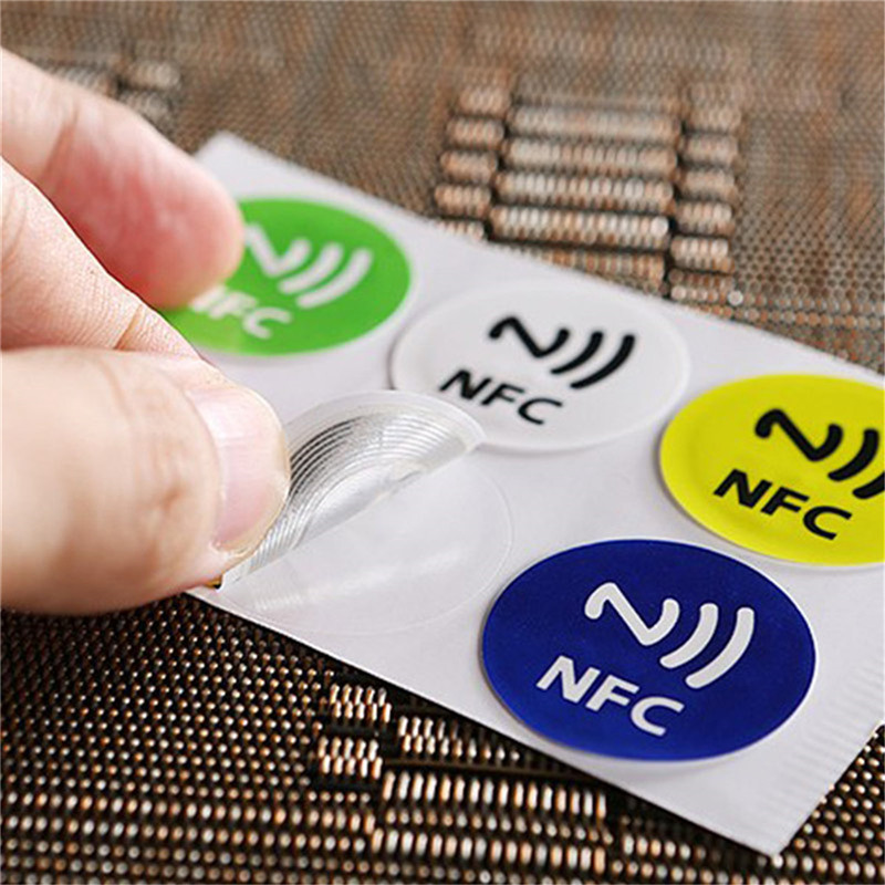 Image 5 - (6pcs/lot ) NFC Tags Stickers NTAG213 NFC tags RFID adhesive label sticker Universal Lable Ntag213 RFID Tag for all NFC Phones-in Access Control Cards from Security & Protection