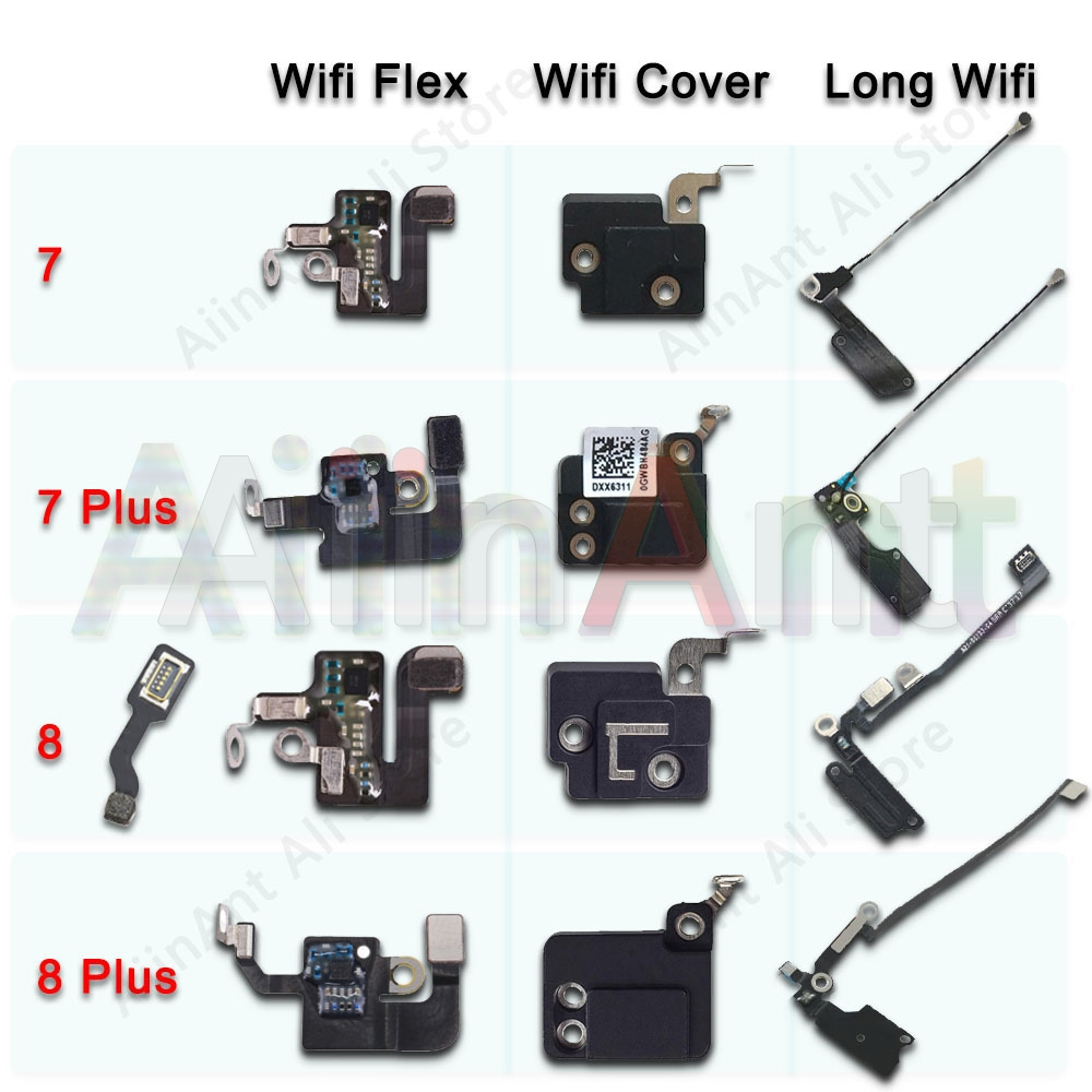 Original For IPhone 7 8 Plus Wifi Bluetooth NFC WI-FI GPS Signal Antenna Flex Cable Cover Replacement Repair Spare Parts