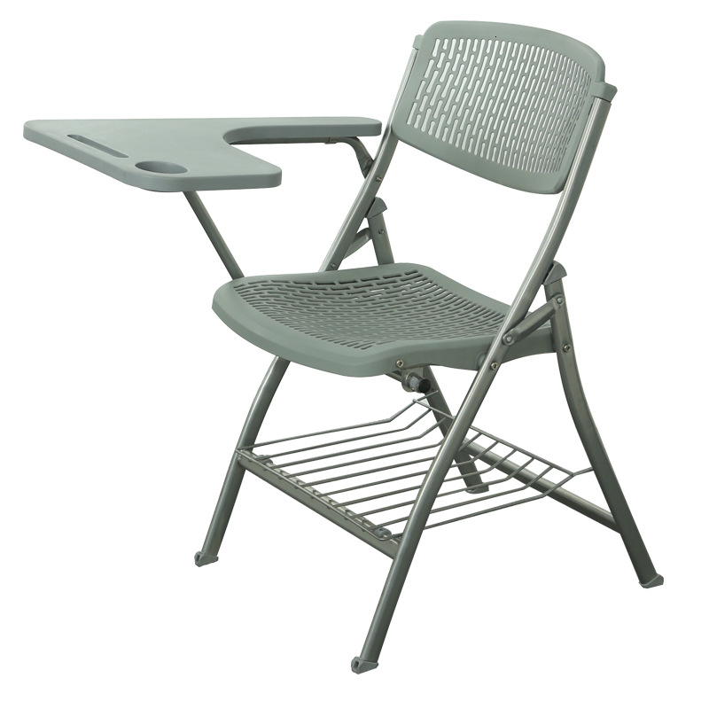 Folding Chair With Writing Board Portable Journalist Chair Office Business Meeting Training Chair
