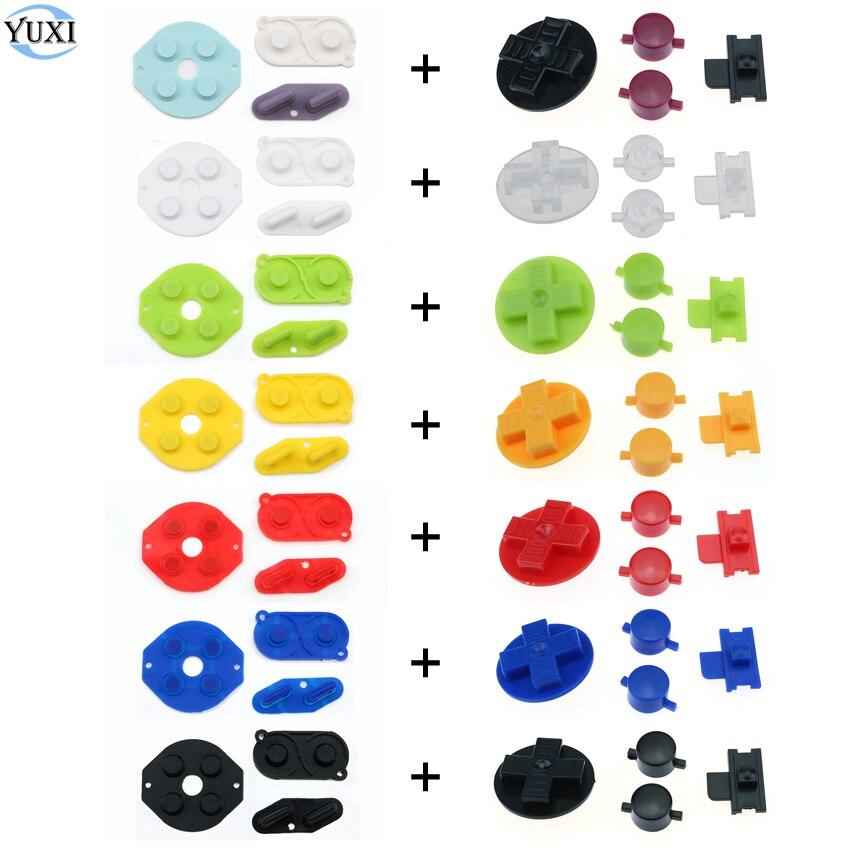 YuXi резиновый проводящий кнопочный A B D pad, силиконовый набор кнопок для Gameboy, классический ГБ, запасные части