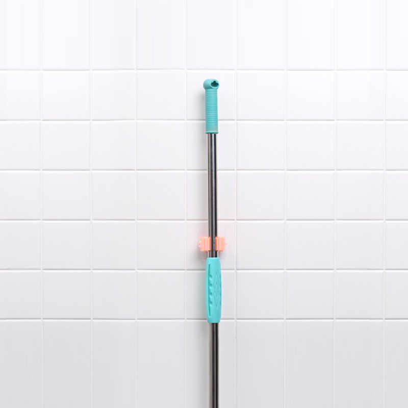 Uchwyt ścienny organizator na mopa szczotka wieszak na miotły przechowywanie w domu Rack łazienka ssania wiszące haki do rur narzędzia gospodarstwa domowego