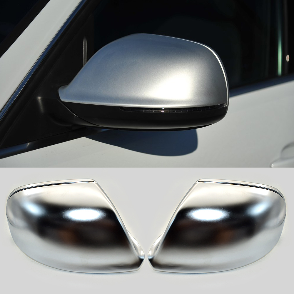 a pair Fit For AUDI Q5 8R Q7 SUV 10-15 Wing Mirror Cover Housing White Caps