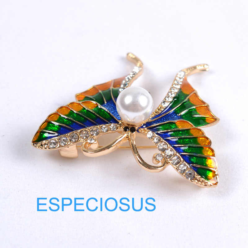 Elegan Pin Warna Emas Wanita Hadiah Kupu-kupu Payudara Pin Aksesoris Warna Campuran Perhiasan Dicat Aooly Bros Pakaian