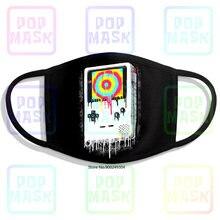 Gotejando cores gameboy reto vintage preto gamers ph5 impressão lavável respirável reutilizável algodão máscara boca