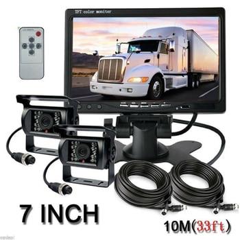 Car 4Pin IR LED Night Vision System Waterproof Back Up Camera W/ 7Inches Monitor
