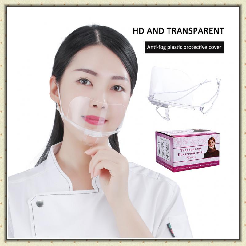 1pcs PET High-definition Transparent Fog Splash Proof Facial Cover Dust-proof Face Shield Full Face Mask Protector Face Masks(China)