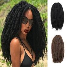 YxCherishair marley плетеные волосы оптом синтетические Омбре плетение волос крючком наращивание волос