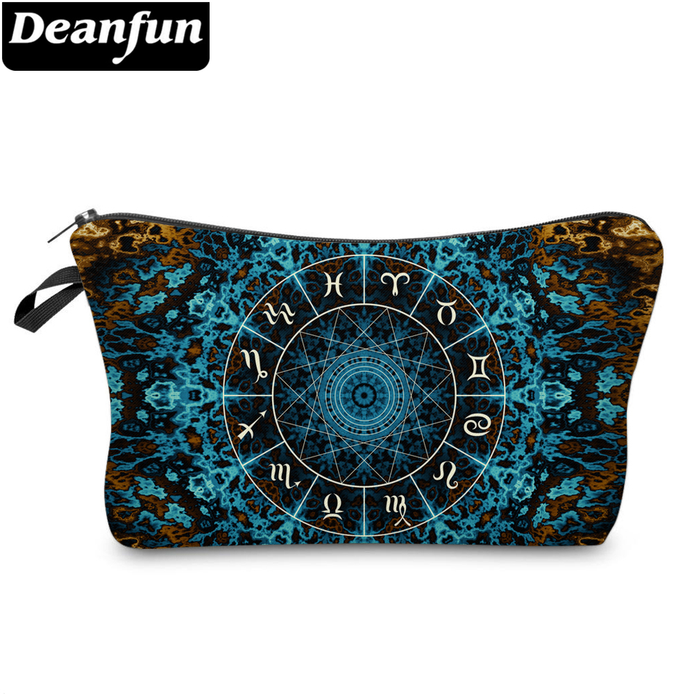 Deanfun Constellation Printed Makeup Bag Polyester Soft Washable Cosmetic Bag Durable Portable Makeup Travel Bag 51418