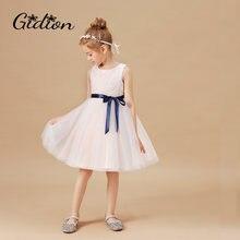 Детское платье принцессы; для девочек модное без рукавов свадебное