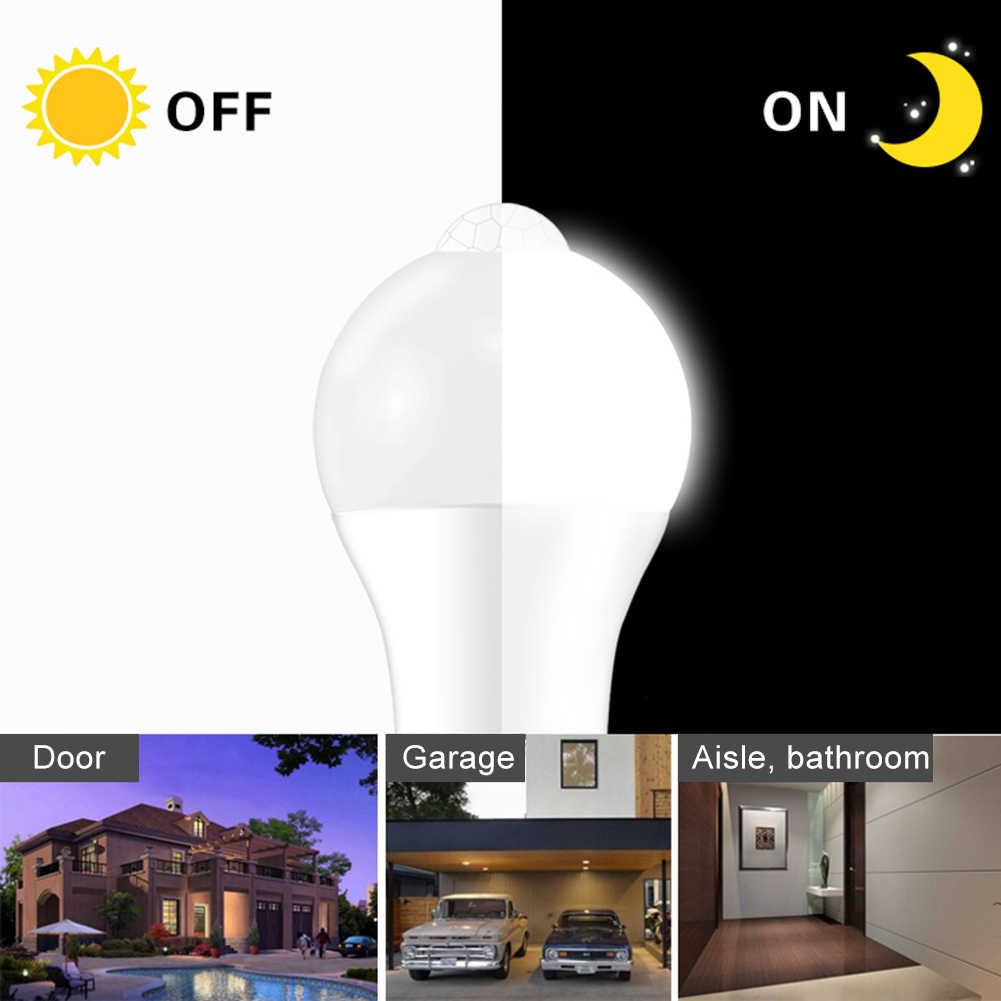 Son intelligent détecteur de mouvement LED lampe lumière 10W B22/E27 Induction ampoule escalier couloir veilleuse blanc corps humain Induction ampoule