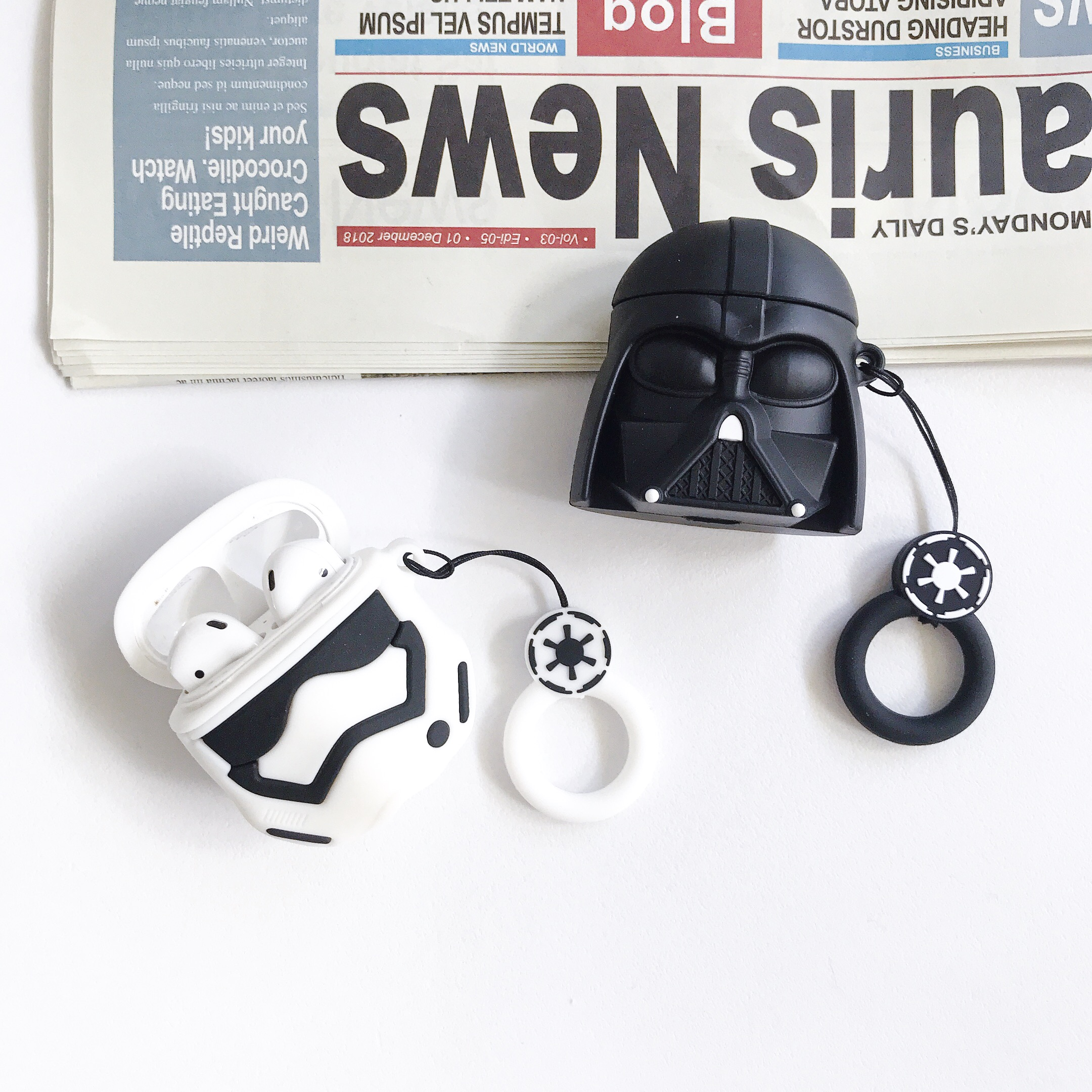 Luxury Cute Cartoon Case For Airpods Case Star Wars Cover On For Original Airpods 1 2 Case For Airpod Air Pods Cover Coque Funda