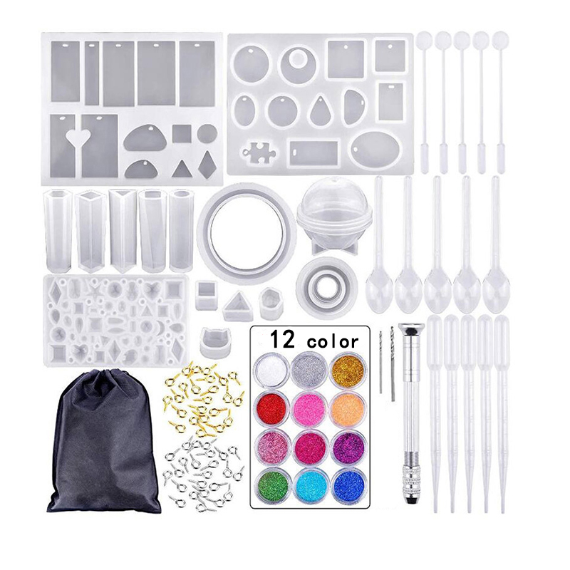 DIY Epoxy Silicone Mold Sets Materials Combination Jewelry Making Tools Uv Resin Molds Set
