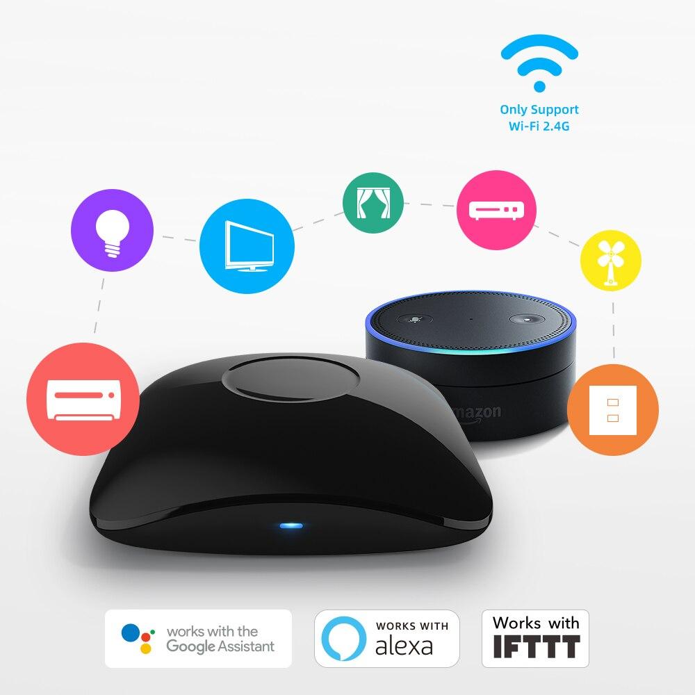 BroadLink RM4 Pro RM4C Mini Smart Universal Remote For IR And RF 433/315 Appliances Alexa Google Home Voice Control HTS2 Sensor