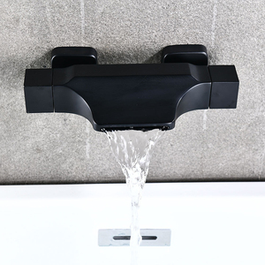 Black Bathroom Tub Faucet Doub