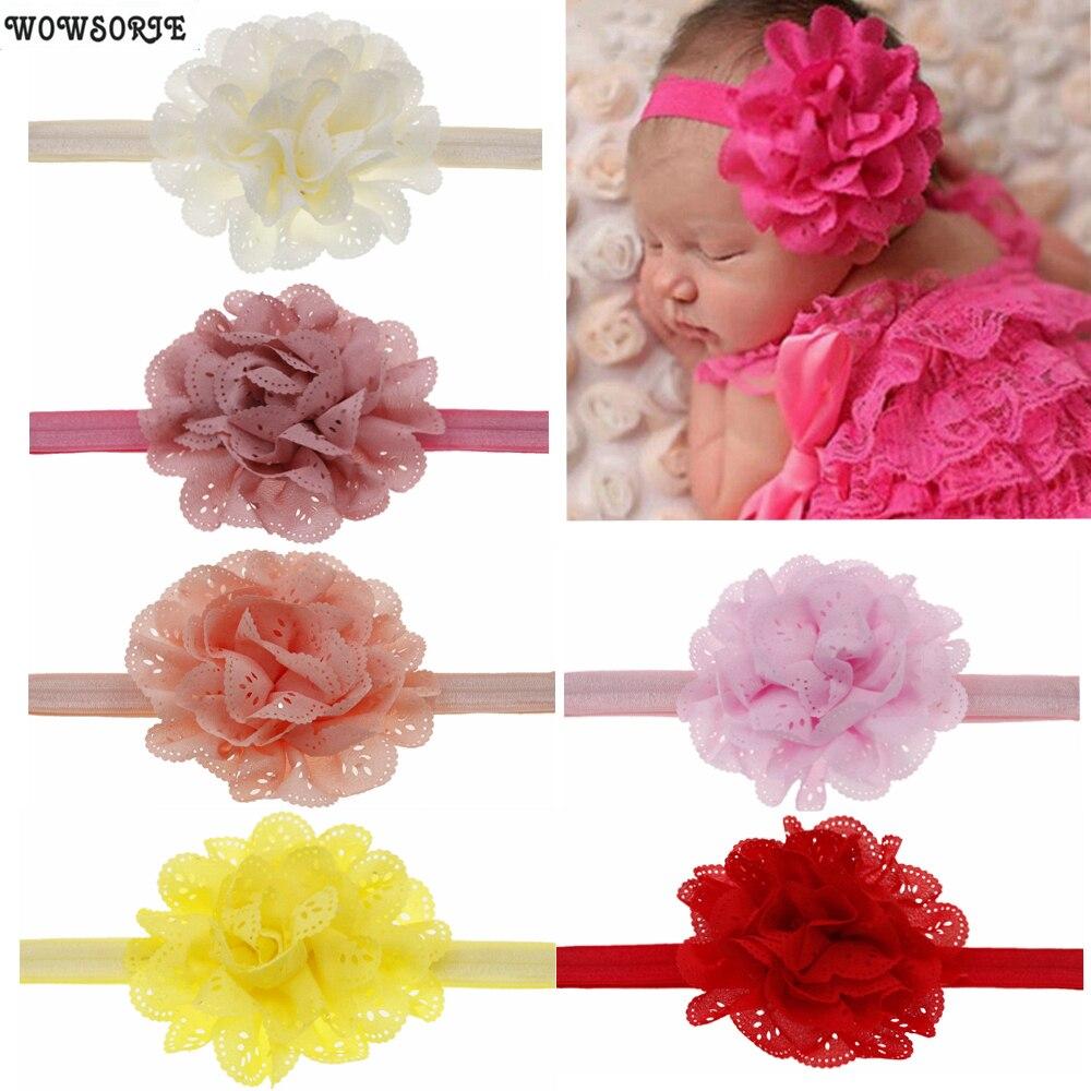 Baby Headband Fashion Style Mesh Girls Flower Headbands Newborn Kids Elastic Hair Band Cute Children Baby Girls Hair Accessories
