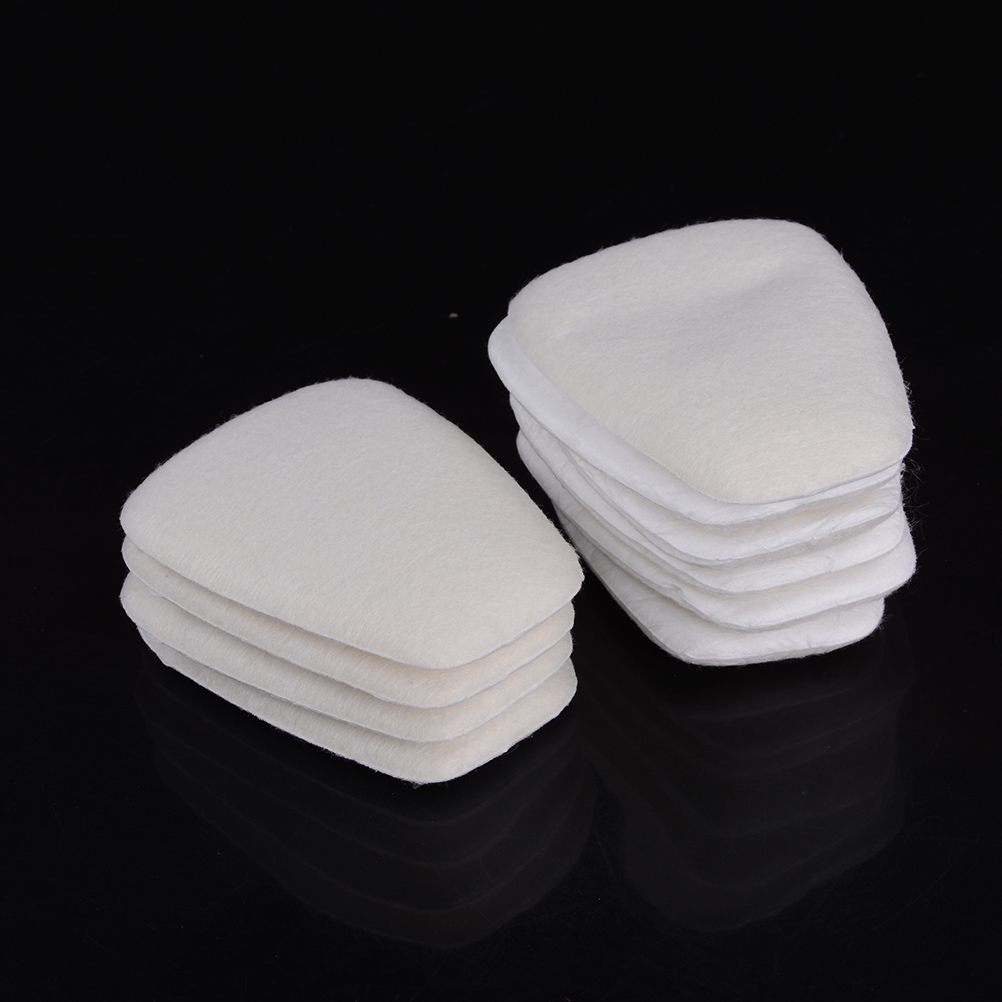 10pcs 5N11 Cotton Filters Filter Cover Replaceable For 6200/7502/6800 Gas Dust Mask Chemical Respirator Accessories