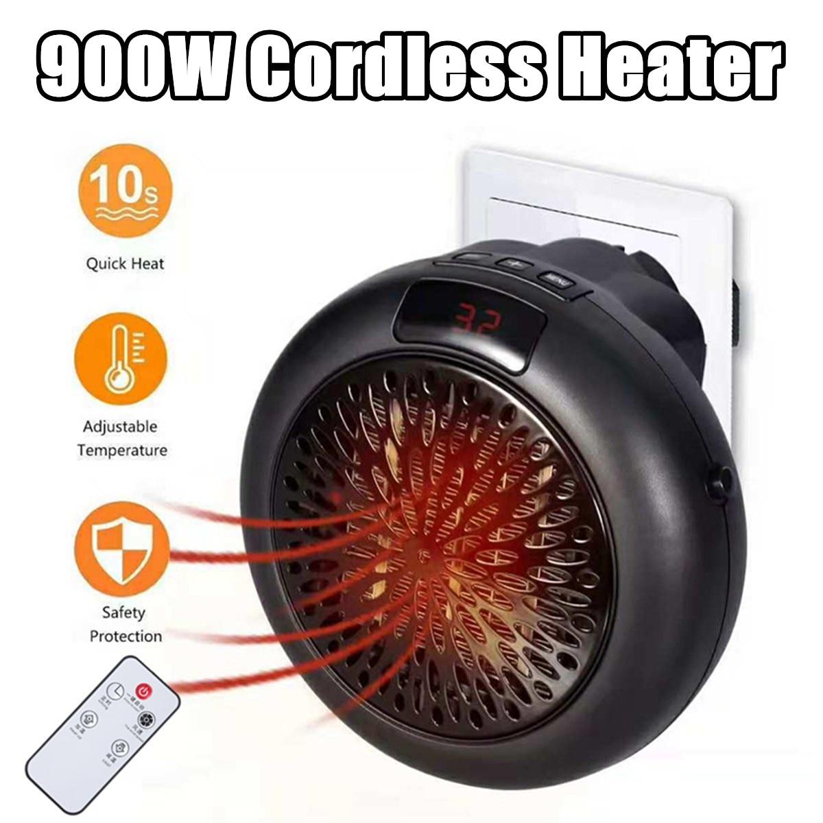 900W Electric Heater Mini Fan Heater Desktop Household Wall Handy Heating Stove Radiator Winter Body Warmer Ceramic Machine